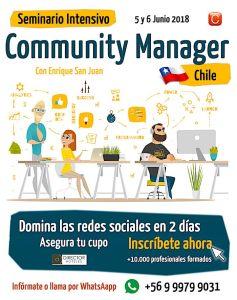 seminario community manager santiago chile junio 2018 enrique san juan