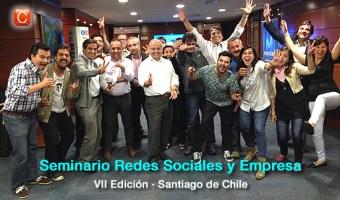 Los participantes de la VII Edición del Seminario Redes Sociales y Empresa en Santiago de Chile, contentos y alegres tras 3 días intensos de Social Media.