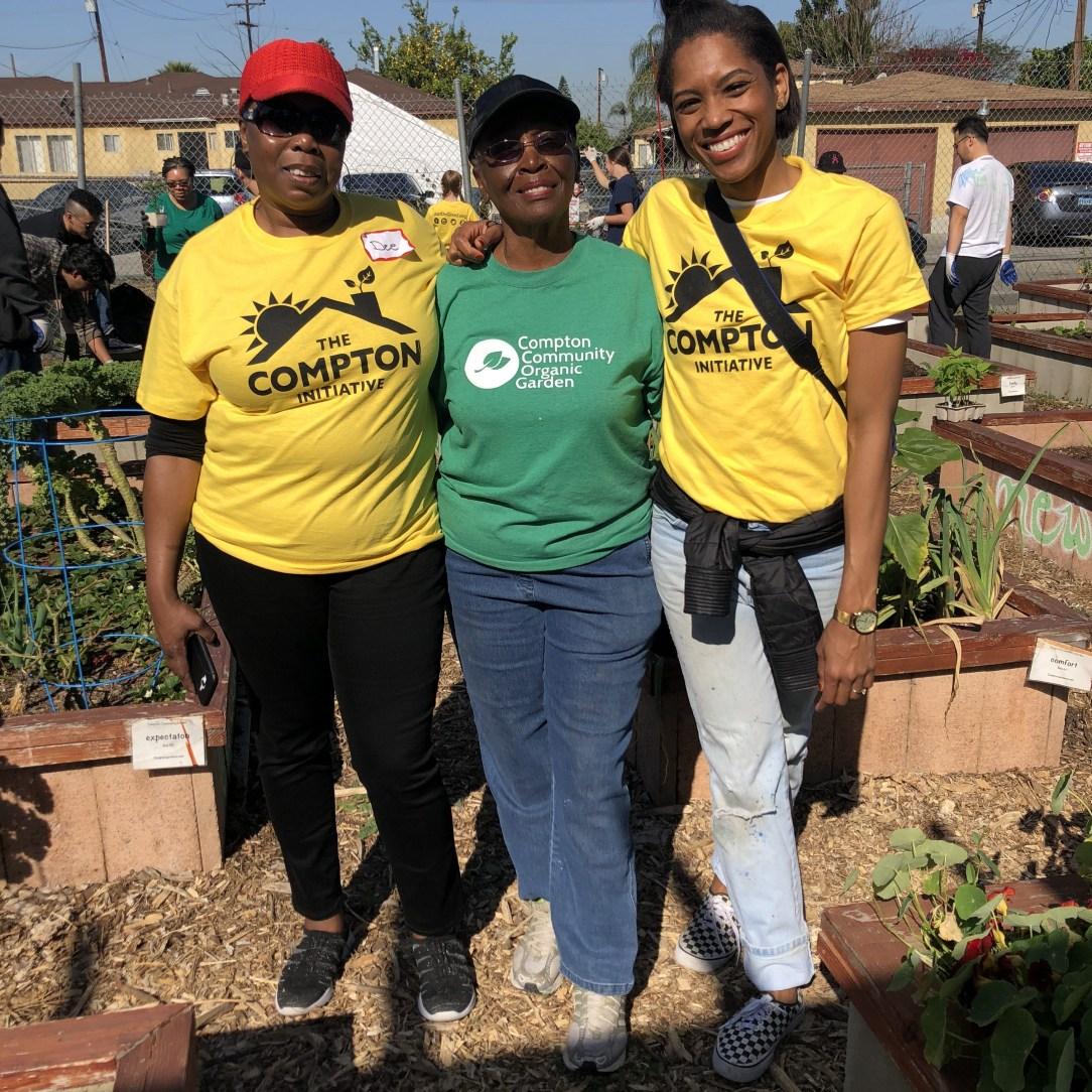 team members at Compton community garden