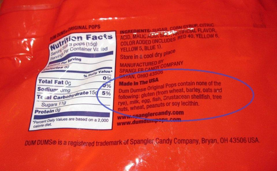 Some companies provide voluntary allergen statements to let you know ...