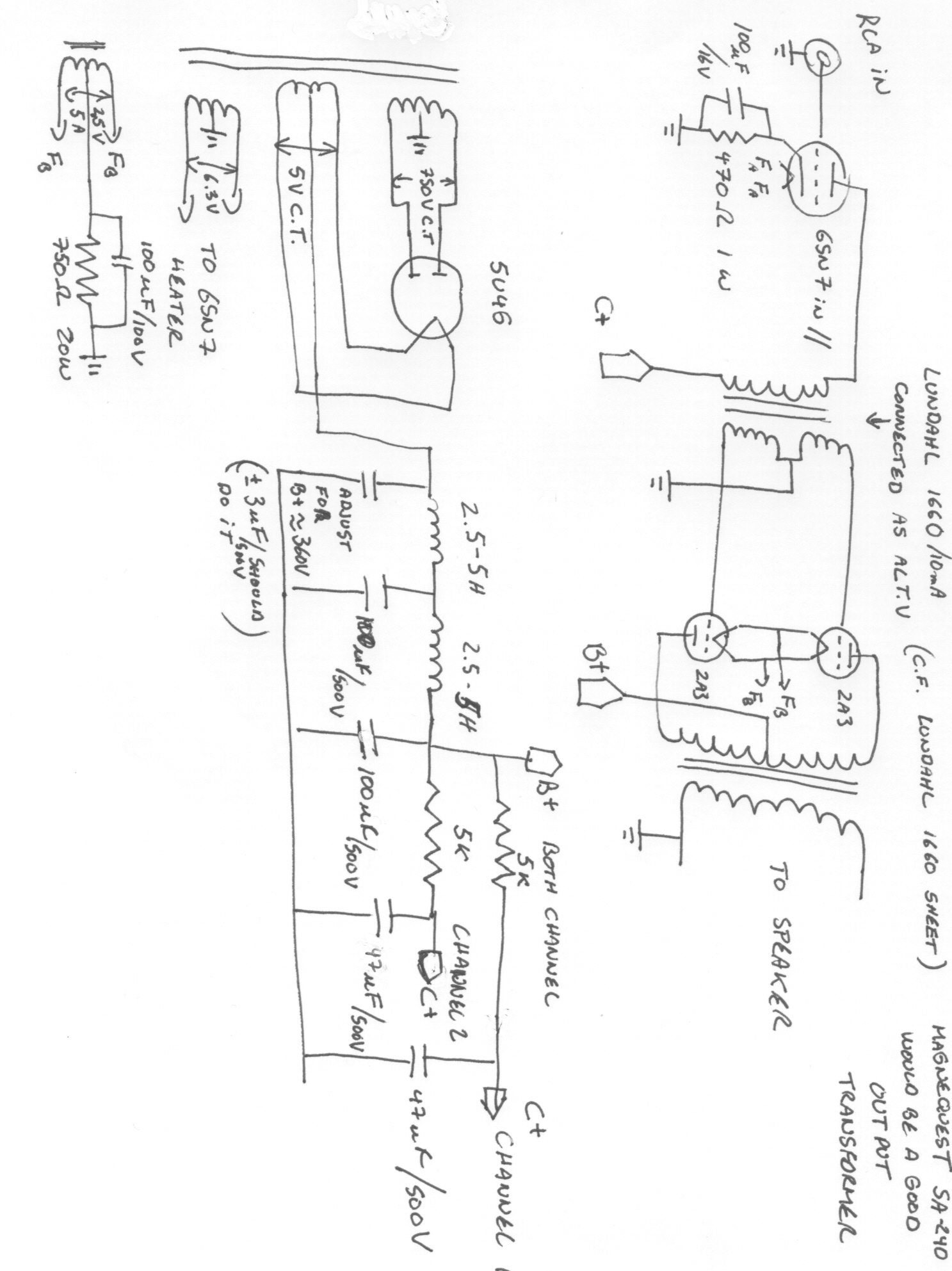 Pantheon Preamp Schematic