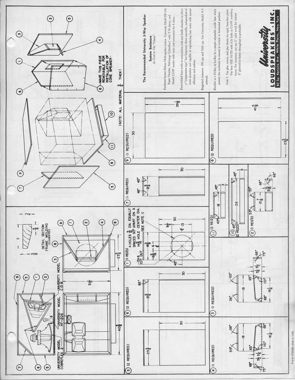 Folded Horn Bass Cabinet Plans Pictures To Pin On