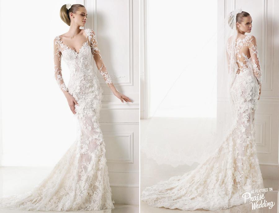 Pronovias 2015 Capricornio Gown -Romantic Mermaid Wedding