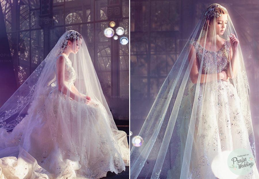 Sophie Designs Stunning Crystal Dress Praise Wedding