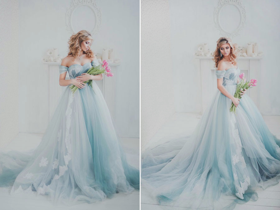 Ethereal Feminine And Utterly Romantic This Ombre Blue