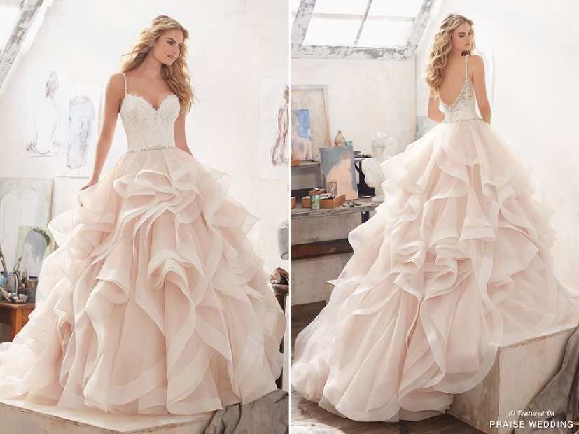 A Sweet Glamorous Blush Ball Gown From Morilee Featuring A