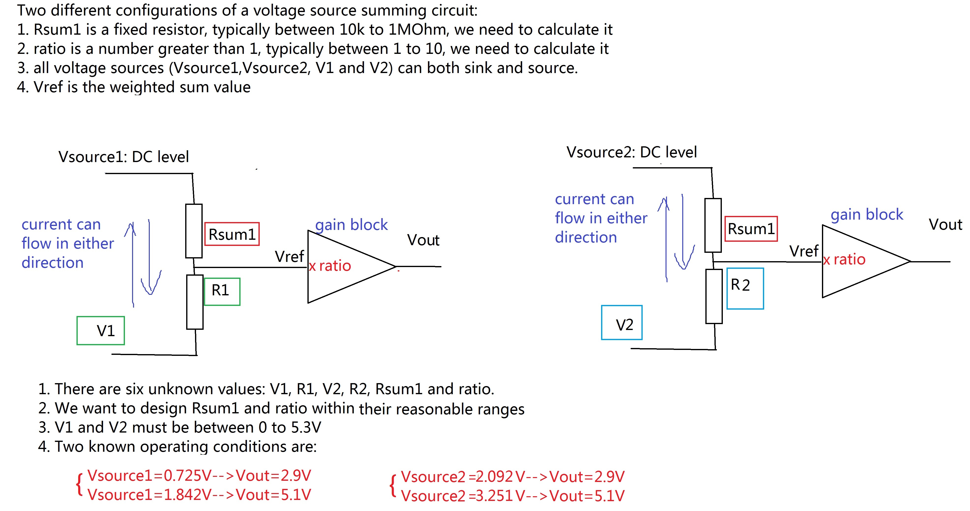 Solved How To Solve This Simple Voltage Summing Circuit U
