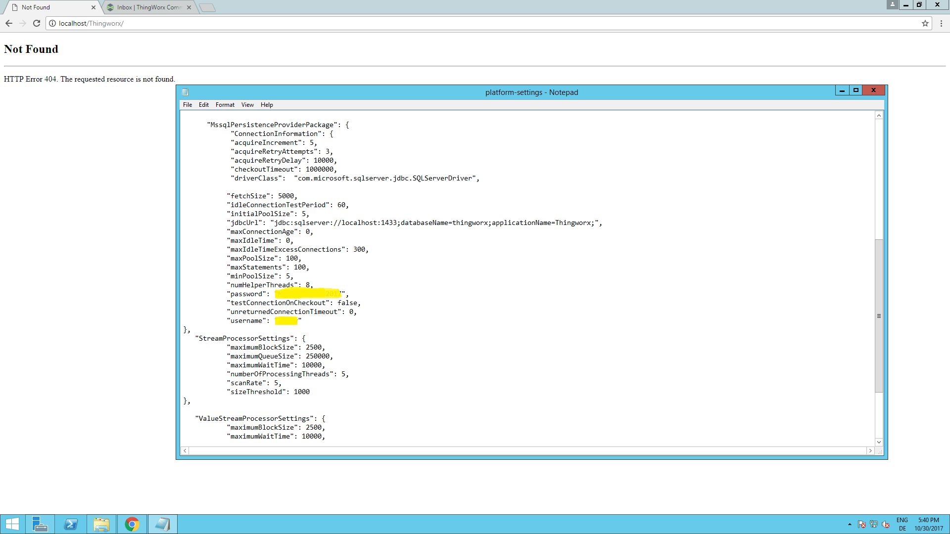 Solved Unable To Start Thingworx Composer