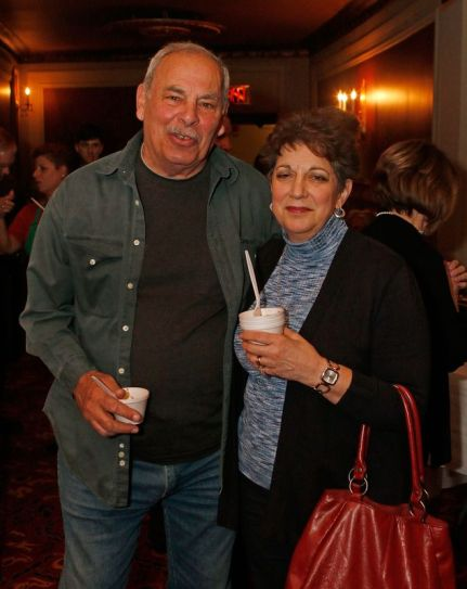 (from left) Paul Mirabelle and Donna Coviello gathered for the during the third annual UNICO meatball contest at the Palace Theatre Tuesday evening. Francine Nido
