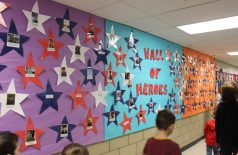 Wall of Heros at Harwinton Consolidated