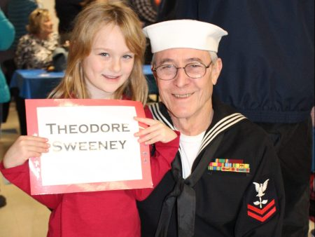 Veteran Theodore Sweeney at Harwinton Consolidated