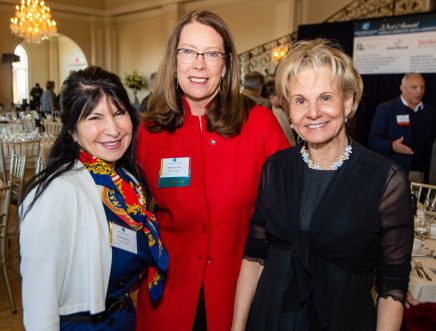 PROSPECT, CT-012120JS06- Monica Dizozza and Kathy Luria, both of Webster Bank, with Catherine Smith, at the 23rd Annual Harold Webster Smith Awards breakfast at Aria Wedding & Banquet Facility in Prospect. The event was hosted by the Waterbury Regional Chamber. Jim Shannon Republican-American