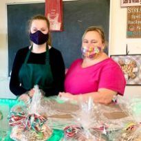 Southbury Bakery sponsored children for the annual Gift Program. Pictured left to right Allison Mahr and Karla Urban.