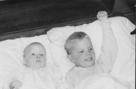 Eric (left) and Jon as little guys on the farm.