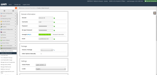 Getting started with cPanel & WHM