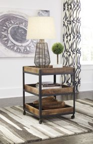 Vintage Casual Square End Table - Two Tone