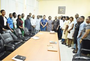 Group Photograph of Principal Officers of the University, visiting AWARD Delegates and members