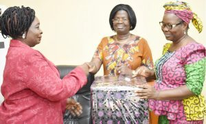 We are proud of you because you've done us (womenfolks) proud seems to be the consensus of the Deputy Vice-Chancellor (Academic), Professor (Mrs.) Morenike Dipeolu and the University Librarian, Dr. Fehintola Onifade while presenting a token of University's appreciation to the outgone Deputy Registrar II, Mrs. Mariam Popoola