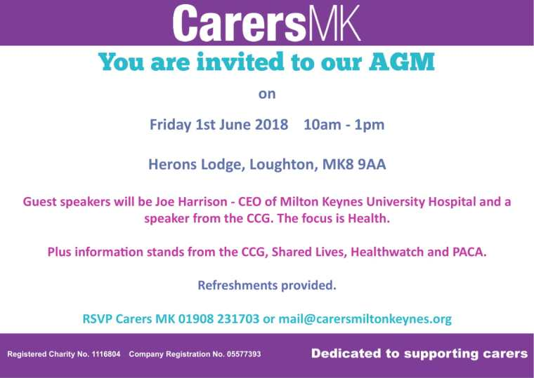 Save The Date Carers MK AGM 2018-1