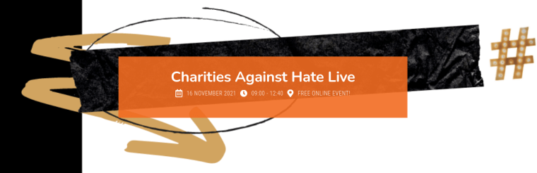 charities against hate virtual event logo