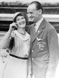 Olympic gold medalist Tommy Green of Eastleigh with wife Rose