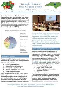 Triangle Regional Food Council Report