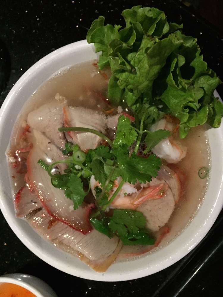 My pho - shrimp, pork ,and rice noodle.