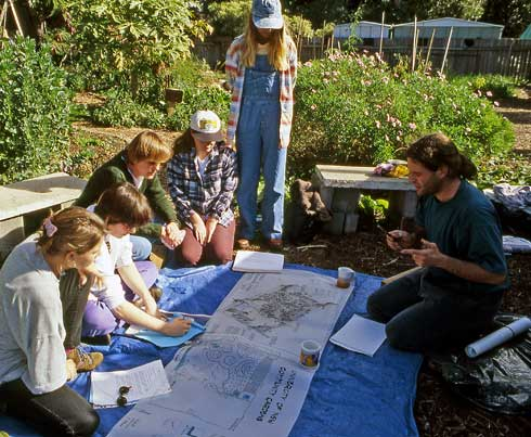 In designing community gardens, social design comes first