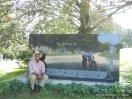 Miles Davis sarcophagus at Woodlawn Cemetery