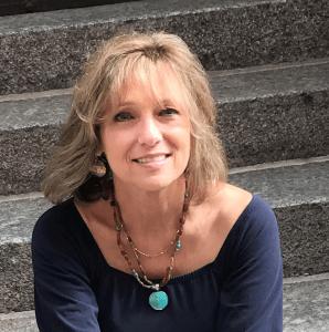 Pam Jones 2021 Board Chair Woman in Blue Dress