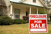 foreclosure sign on lawn