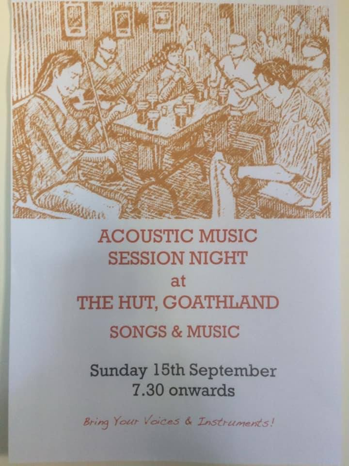 Acoustic music session night at the Hut Goathland