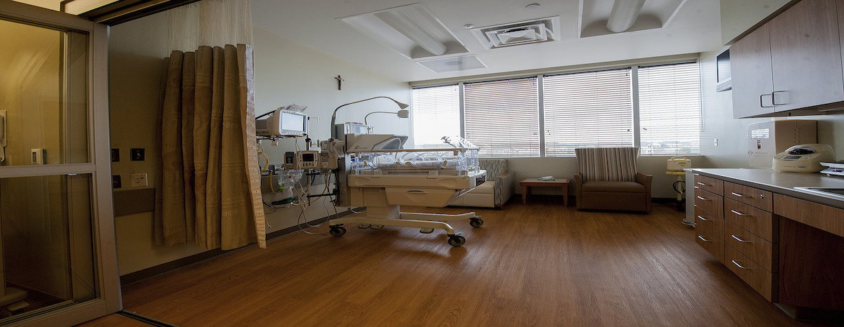 All the suites at CHI St. Luke's Health—Sugar Land's birthing center are private.