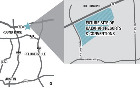 Kalahari location in Round Rock
