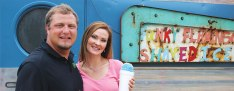 Shane and Mary Anniboli opened the Funky Flamingo in April. It serves 45 flavors of shaved ice.