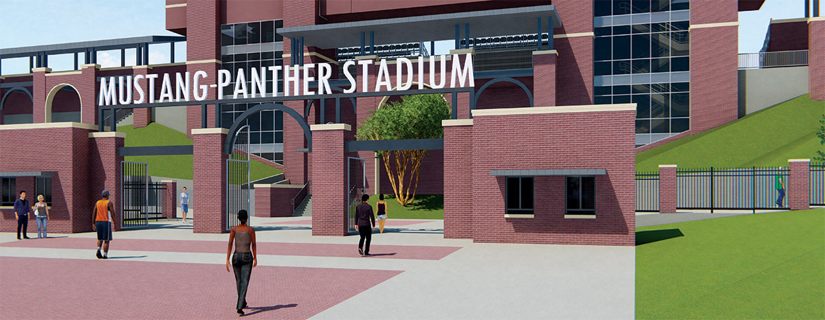 GCISD's Mustang-Panther Stadium will undergo a $18 million renovation.