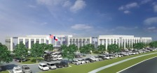 When completed, the 200,000-square-foot facility will be able to house around 700 WatchGuard Video employees at the intersection of Exchange and Andrews parkways.