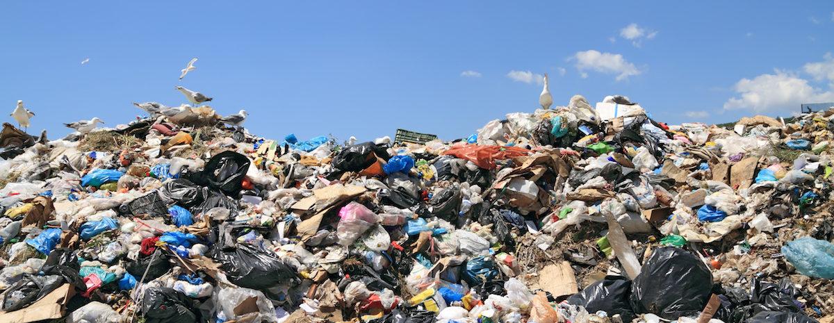Garbage landfill