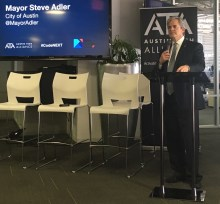 Austin Mayor Steve Adler, at the Austin Tech Alliance's CodeNEXT discussion on Thursday, said while the tech industry is data-driven, the CodeNEXT process will be consent-driven.