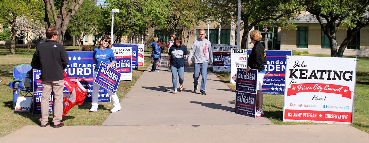 Frisco residents head to the polls for the Place 1 runoff election.