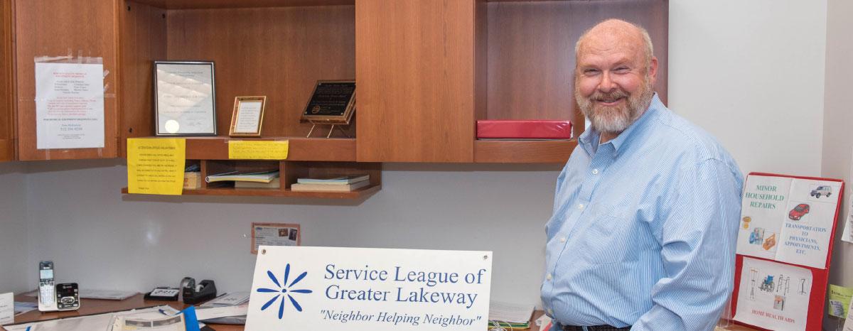League President Tom Seidenstricker has volunteered for three years.