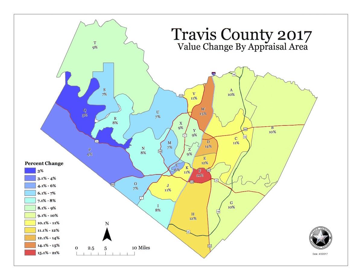 Property Map Percent Change Sales