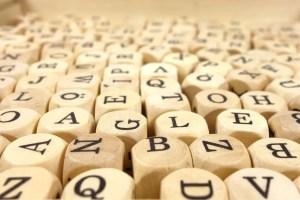 wood cube abc cube letters