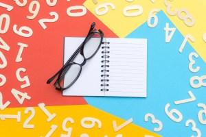 blank concept eyeglasses numbers