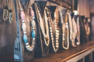 beads necklace shelf