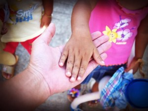 child hand
