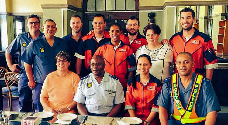 Community Medics, ER24 and SAPS members