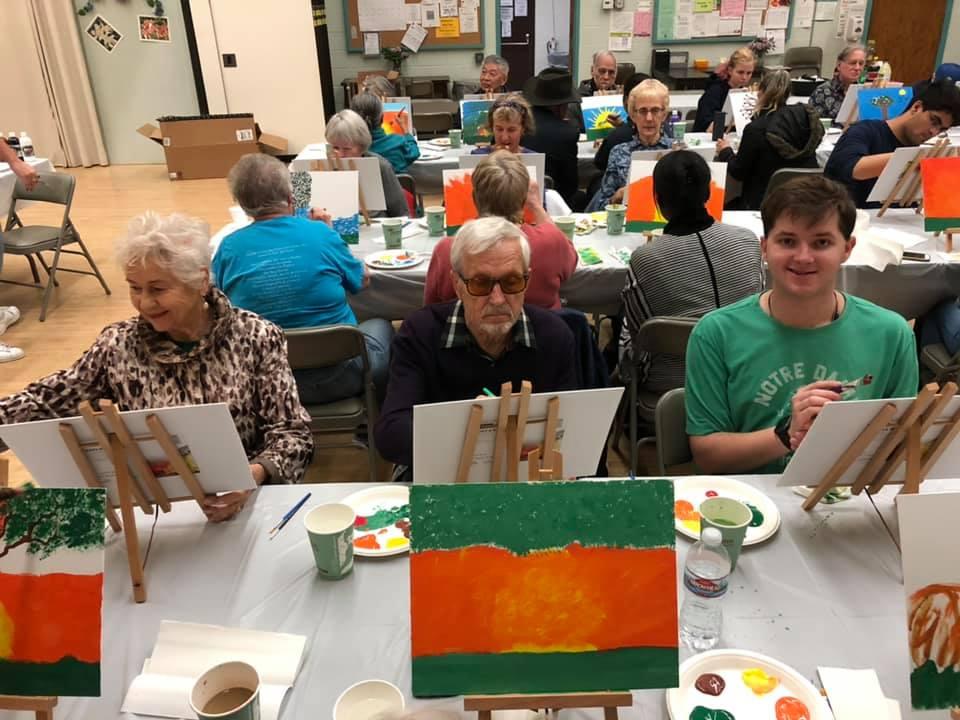 PAP April 2 - LMU Students Host Paint and Pour for Seniors