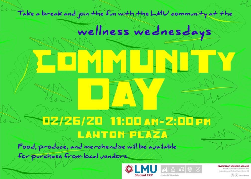 CommunityDay7 1024x731 - Join LMU for Wellness Wednesday - Community Day