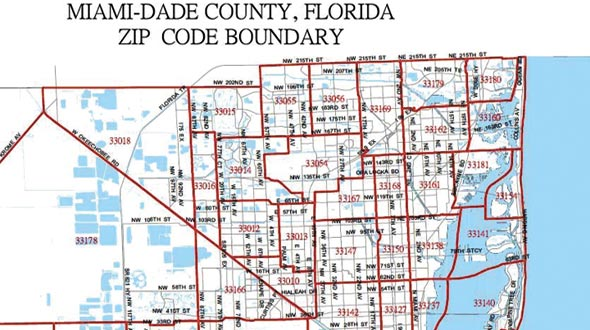 27 miami dade county map zip codes - maps online for you